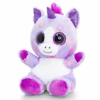 Keel toys pluche eenhoorn knuffel lila/wit 25 cm