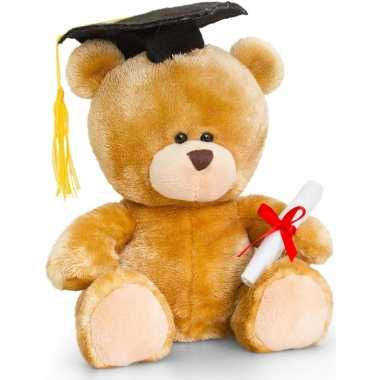 Keel toys pluche geslaagd beren knuffel 20 cm cadeau