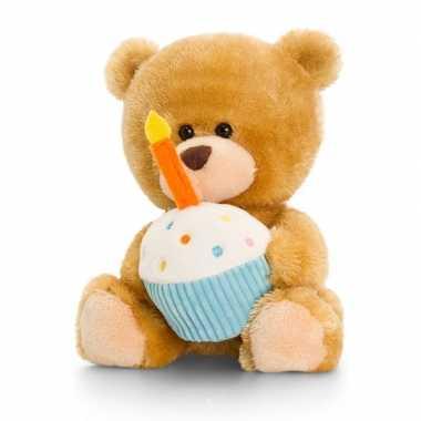 Keel toys pluche verjaardag beren knuffel 14 cm cadeau