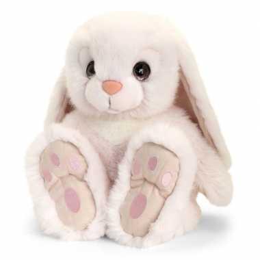 Keel toys pluche witte konijnen knuffel 35 cm