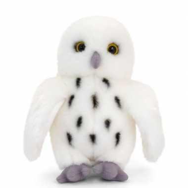 Keel toys pluche witte sneeuwuil knuffel 28 cm