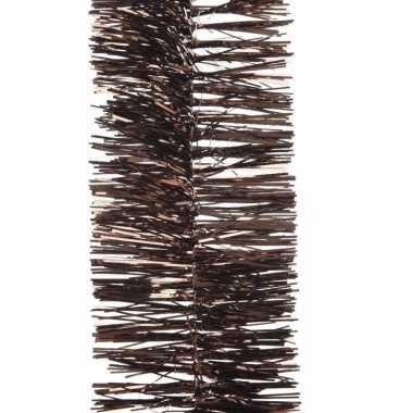 Kerst bruine folieslinger cosy christmas 270 cm