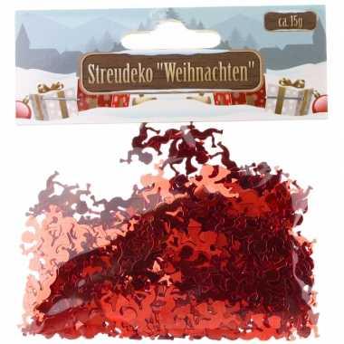 Kerst deco confetti rode engeltjes glimmend 15 gram