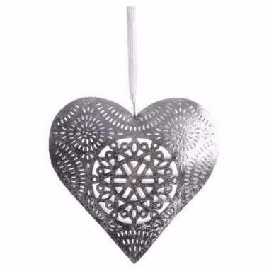 Kerst decoratie hart hanger groot type 1