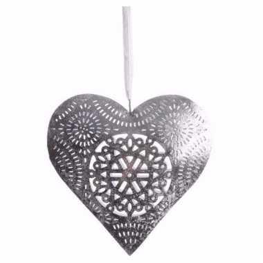Kerst decoratie hart hanger klein type 1