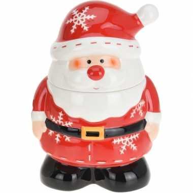 Kerst decoratie koekpot/snoeppot kerstman 23 cm