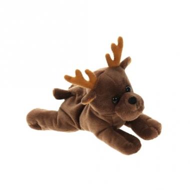 Kerst eland knuffel 16 cm