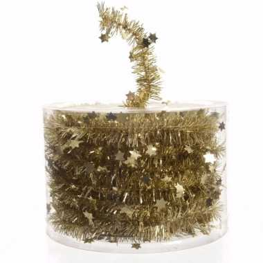 Kerst gouden sterren folieslinger chique christmas 700 cm
