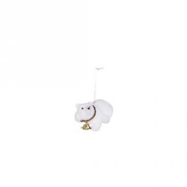 Kerst hangdecoratie ijsbeer 8 cm type 5