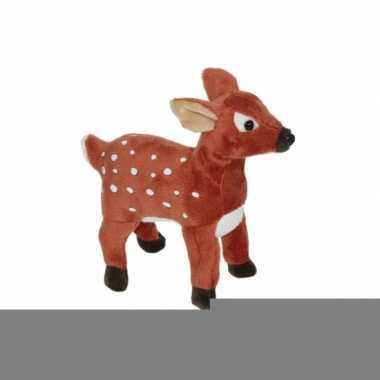 Kerst hert knuffel 20 cm
