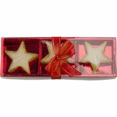 Kerst kaarsen ster goud