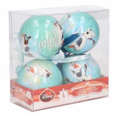 Kerst kerstballen frozen olaf 4 stuks