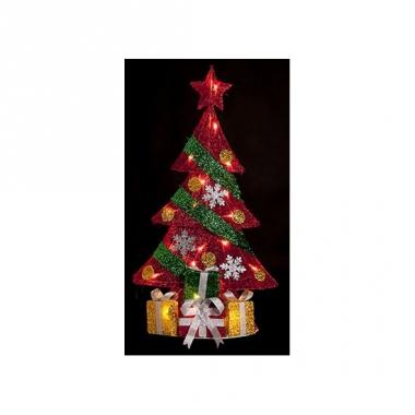 Kerst kerstboom met led-verlichting 74 cm