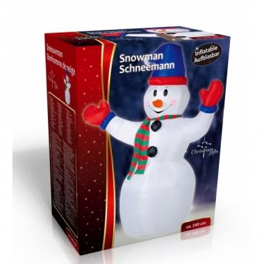 Kerst opblaasbare sneeuwpop 240 cm