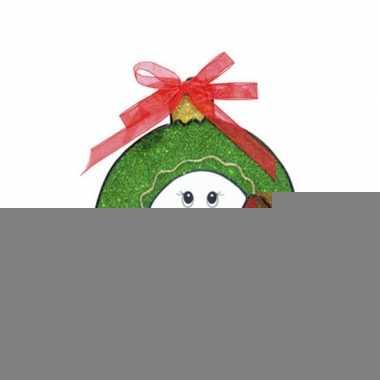 Kerst raamsticker sneeuwpop 18 cm