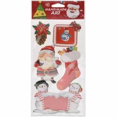 Kerst raamstickers/raamdecoratie 3d type 4 20 x 45 cm