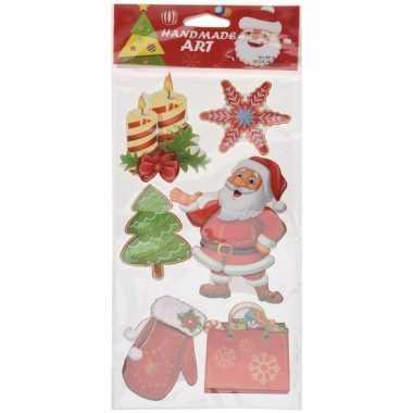 Kerst raamstickers/raamdecoratie 3d type 6 20 x 45 cm