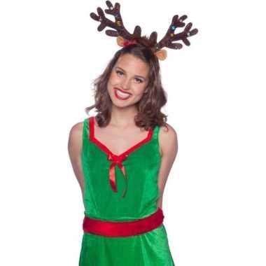 Kerst rendier gewei tiara/diadeem met led lichtjes