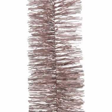 Kerst roze folieslinger mystic christmas 270 cm