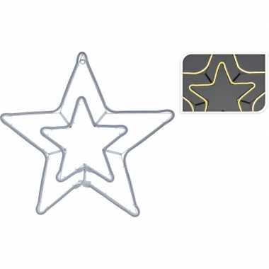 Kerst slangverlichting dubbele ster warm wit 57 cm