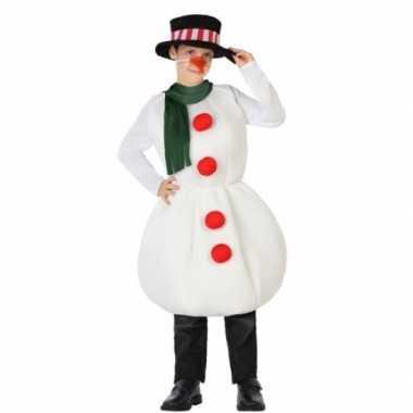 Kerst sneeuwpop outfit voor kinderen