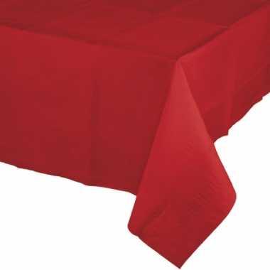 Kerst tafeldecoratie tafelkleed rood 274 x 137 cm papier