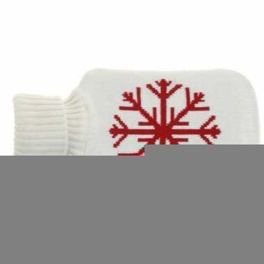 Kerst witte kruik met sneeuwvlok