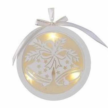 Kerstbal/kerstklok kerstversiering hangdecoratie met led licht