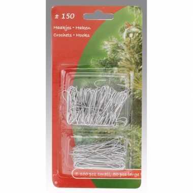 Kerstbalhaakjes zilver 150 stuks