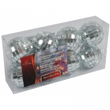 Kerstballen met spiegeltjes 4 cm
