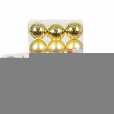 Kerstballen set 6 cm 6 stuks
