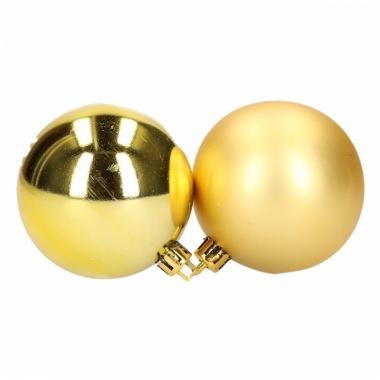 Kerstballen set goud 6 cm 12 stuks