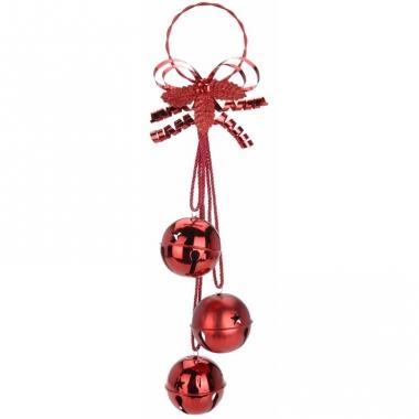 Kerstbellen decoratiehanger rood 50 cm