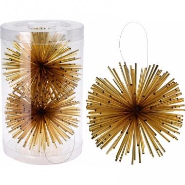 Kerstboom decoratie kerstbol goud 11 cm