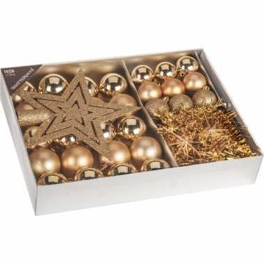 Kerstboom decoratie set 33-delig classic gold