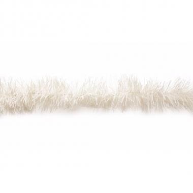 Kerstboom folie slinger wit 200 cm