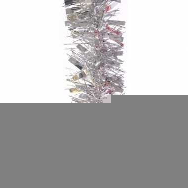 Kerstboom folie slinger zilver 200 cm