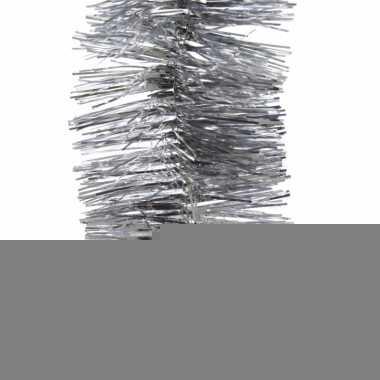 Kerstboom folie slinger zilver 270 cm