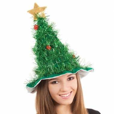 Kerstboom hoed voor volwassenen