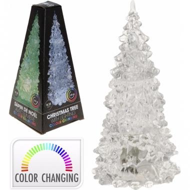 Kerstboom transparant met led licht 18 cm