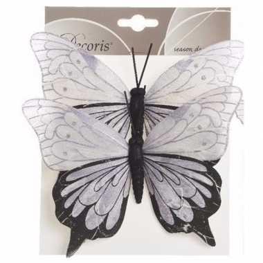 Kerstboom vlinders lila/zwart type 1