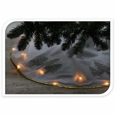 Kerstboom voet hoes wit 125 cm