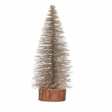 Kerstboompje op stam 25 cm brons