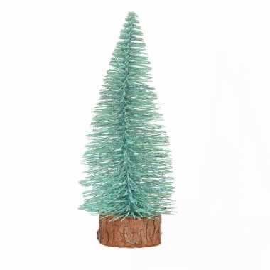 Kerstboompje op stam 25 cm mintgroen