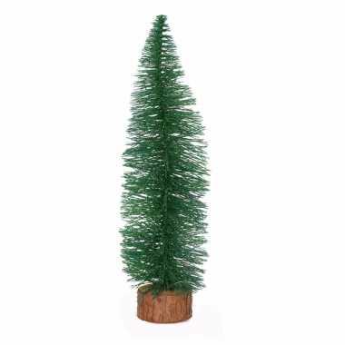 Kerstboompje op stam 35 cm groen