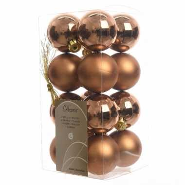 Kerstboomversiering bronzen ballen 4 cm