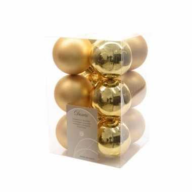 Kerstboomversiering gouden ballen 6 cm