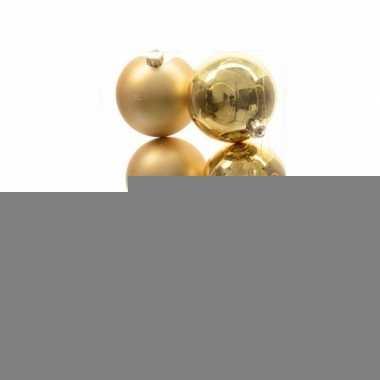 Kerstboomversiering gouden ballen 8 cm