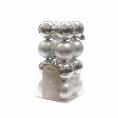 Kerstboomversiering zilveren ballen 4 cm