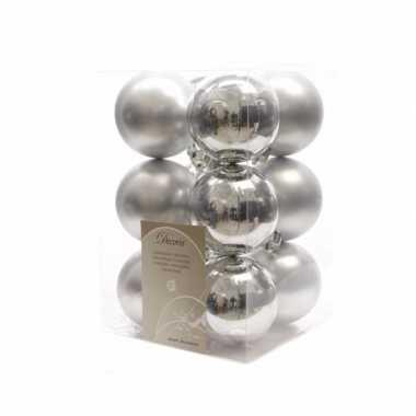 Kerstboomversiering zilveren ballen 6 cm